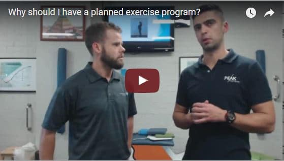 Why is it a good idea to have a planned exercise program?