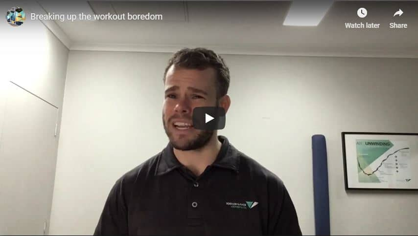 Breaking Up The Workout Boredom Total Balance Chiropractic