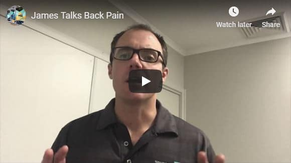 James talks back pain