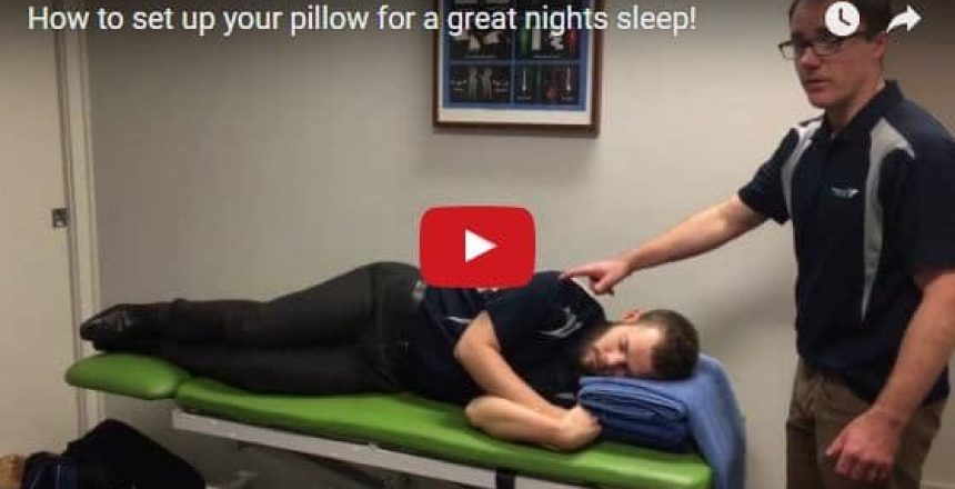 How to set up your pillow for a great nights sleep!