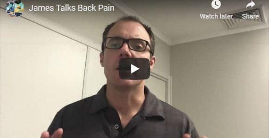 James talks back pain Total Balance Chiropractic